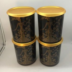 Tupperware One Touch Canister Catrinaś Set of 4